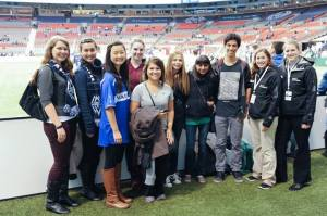 YT1 members at a Whitecaps game!