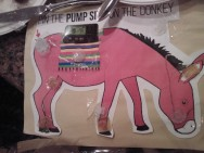 Pin the infusion site on the donkey!